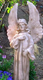 """Sweetness,"" the largest angel in the garden"